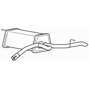 research.unir.net Motors Mufflers/Silencers Exhaust Rear Box Audi ...
