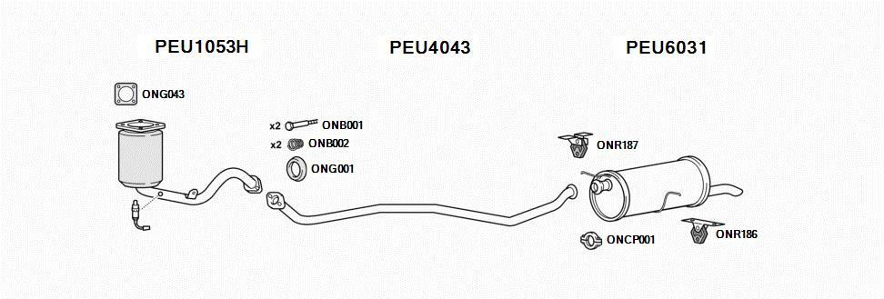 peugeot 307 exhaust system | express delivery on - exhausts -