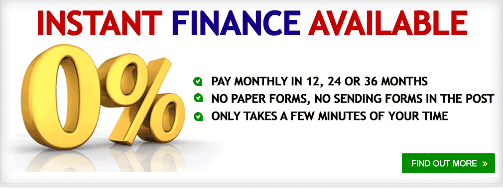 Instant Finance Available - 0% Interest